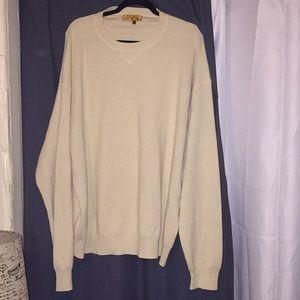 Men's Tulliano Off White Silk & Cashmere Sweater